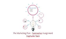 The Marketing Plan - Summative Assignment