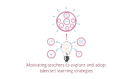 Motivating teachers to explore and adopt blended learning st