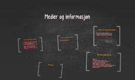 Copy of Medier og informasjon