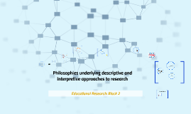 Philosophies underlying descriptive and interpretive approaches to research