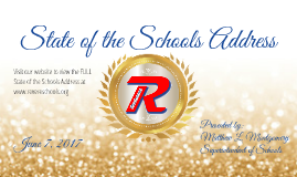 State of the Schools Address for Richfield Chambers 6.7.17