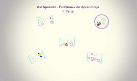 Copy of Así Aprendo - Problemas de Aprendizaje