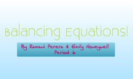 Balancing Equations! - Ramani Perera