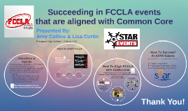 Succeeding in FCCLA events that are aligned with Common Core