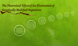 The Theoretical  Effect of the Elimination of Genetically Mo