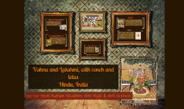 Vishnu and Lakshmi, with conch and lotus