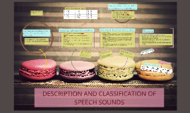 DESCRIPTION AND CLASSIFICATION OF SPEECH SOUNDS