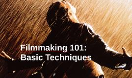 Basic Filmmaking Techniques