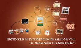 Protocolo de intervención de salud mental- Lic. Marisa Saino