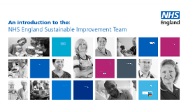 NHS England Sustainable Improvement Team