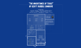 the inheritance of tools sanders essay Essay: scott russell sanders, the inheritance of tools, 99 in-class fifteen-minute writing exercise week 5 chapter 7: essay 242 kinds of essay 244 essay techniques 247 fact and truth, 251 readings: margaret atwood the female body, 254.