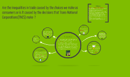 Are the inequalities in trade caused by the choices we make