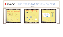 Lean at the University of St Andrews, for the University of Queensland, 14 March 2016