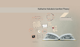 katherine kolcabas comfort theory Katharine kolcaba, phd, rnc, is an associate professor at the university of  akron,  care are presented, followed by application of comfort theory for  research.