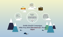 Public Health Campaign's