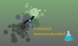 Compușii macromoleculari