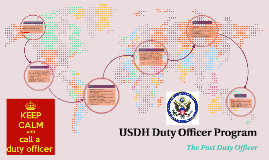 USDH Duty Officer Program