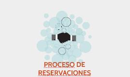 PROCESO DE RESERVACIONES
