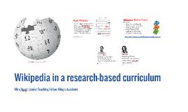 Wikipedia in a research-based curriculum
