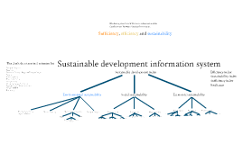 Sustanable development information system