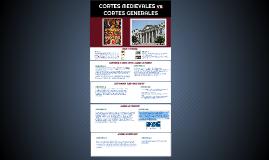 Copy of CORTES MEDIEVALES vs CORTES GENERALES