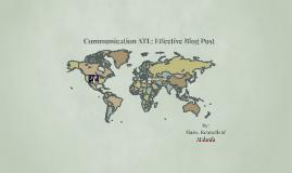 Communication ATL: Blog analysis
