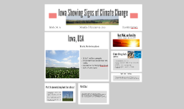 Iowa Showing Signs of Climate Change