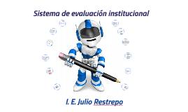 Sistema de evaluación institucional
