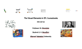 The Visual Elements in EFL Coursebooks