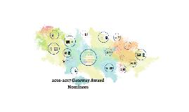 2016-2017 Gateway Award nominees
