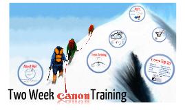 Copy of Canon Training