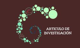 PROYECTO DE INVESTIGACIÓN