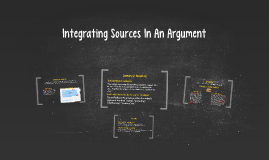 Integrating Sources In An Argument