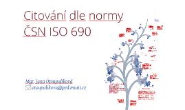 SID10: Citování dle normy ČSN ISO 690