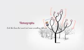 Vocabulary- Homographs