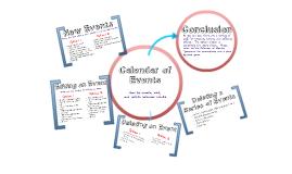 Module 3 - Calendar of Events