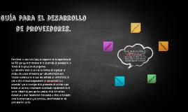 Guía para el Desarrollo de Proveedores.