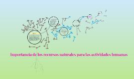 Copy of importancia de los recursos naturales para las actividades humanas