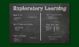 Exploratory Learning