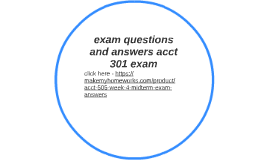 acct 301 Here is the best resource for homework help with acct 301 at md university college find acct301 study guides, notes, and practice tests from umuc.