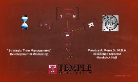 """Strategic Time Management"""