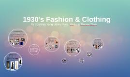 1930s Fashion & Clothing