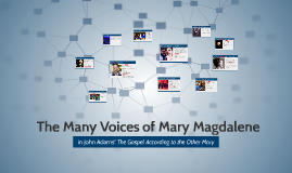 The Many Voices of Mary Magdalene