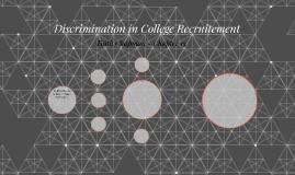 Discrimination in College Recruitement