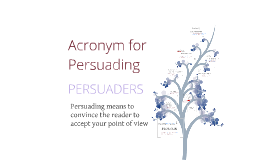 Copy of PERSUADER