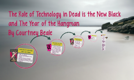 The Roll of Technology in Dead is the New Black and The Year