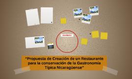 """""""Propuesta de Creación de un Restaurante para la conservació"""