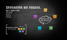 EDUCACIÓN NO FORMAL