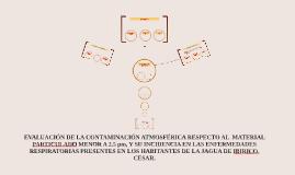 Evaluación de la contaminación atmosférica respecto al  mate