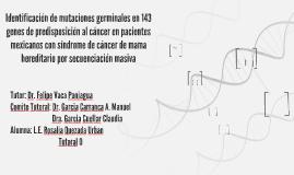 Identificación de mutaciones germinales en 143 genes de pred